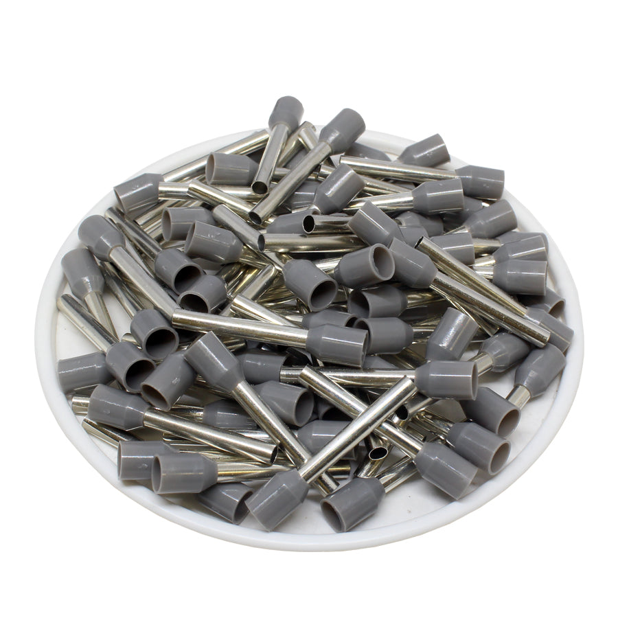 AT25018 - 14AWG (18mm Pin) Insulated Ferrules - Gray