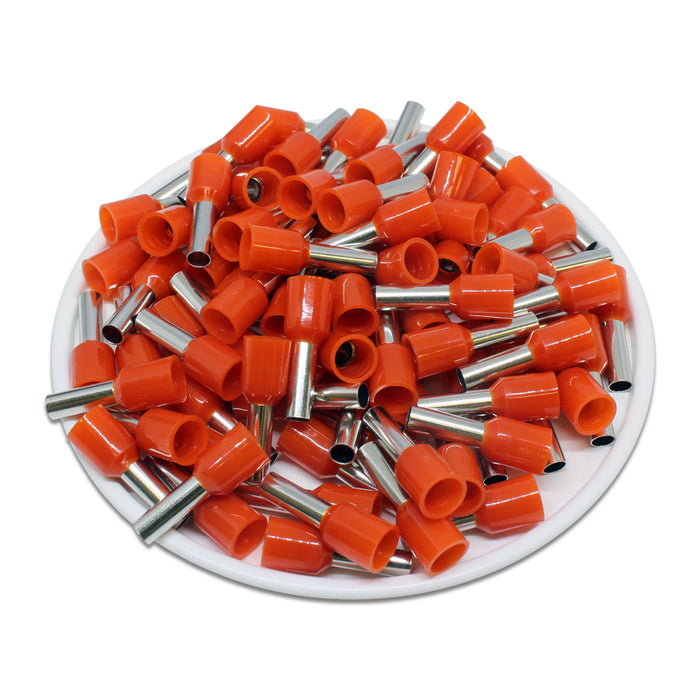 AT40009 - 12AWG (9mm Pin) Insulated Ferrules - Orange