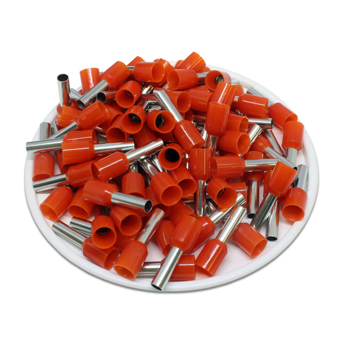 AT40010 - 12 AWG (10mm Pin) Insulated Ferrules - Orange