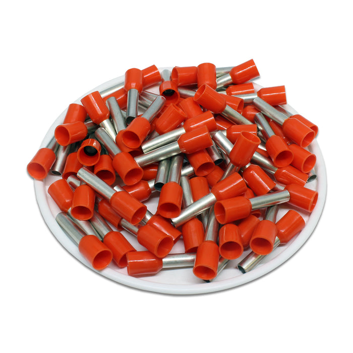 AT40012 - 12 AWG (12mm Pin) Insulated Ferrules - Orange