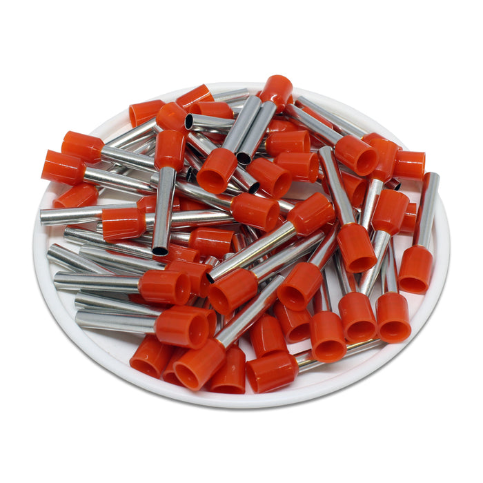 AT40018 - 12 AWG (18mm Pin) Insulated Ferrules - Orange