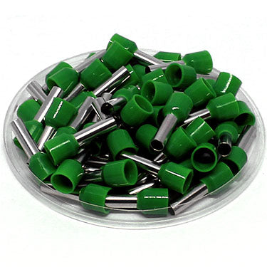 AT60012 - 10 AWG (12mm Pin) Insulated Ferrules - Green