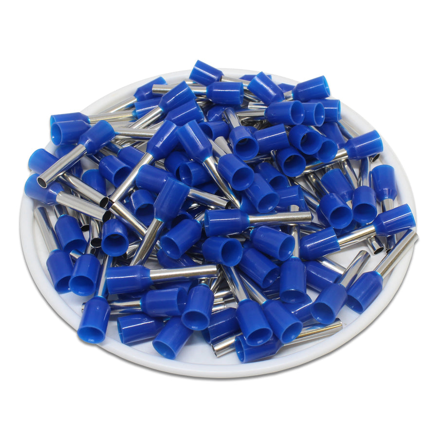 AW25012 - 14AWG (12mm Pin)  Insulated Ferrules - Blue