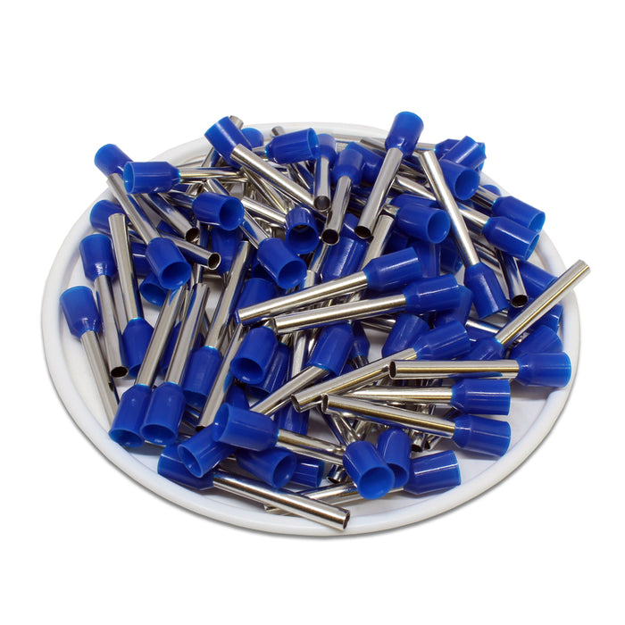 AW25018 - 14AWG (18mm Pin) Insulated Ferrules - Blue