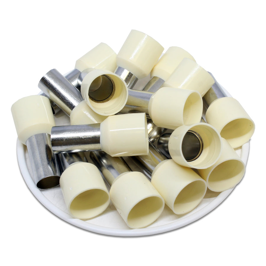 2 AWG (16mm Pin) Insulated Ferrules - Beige