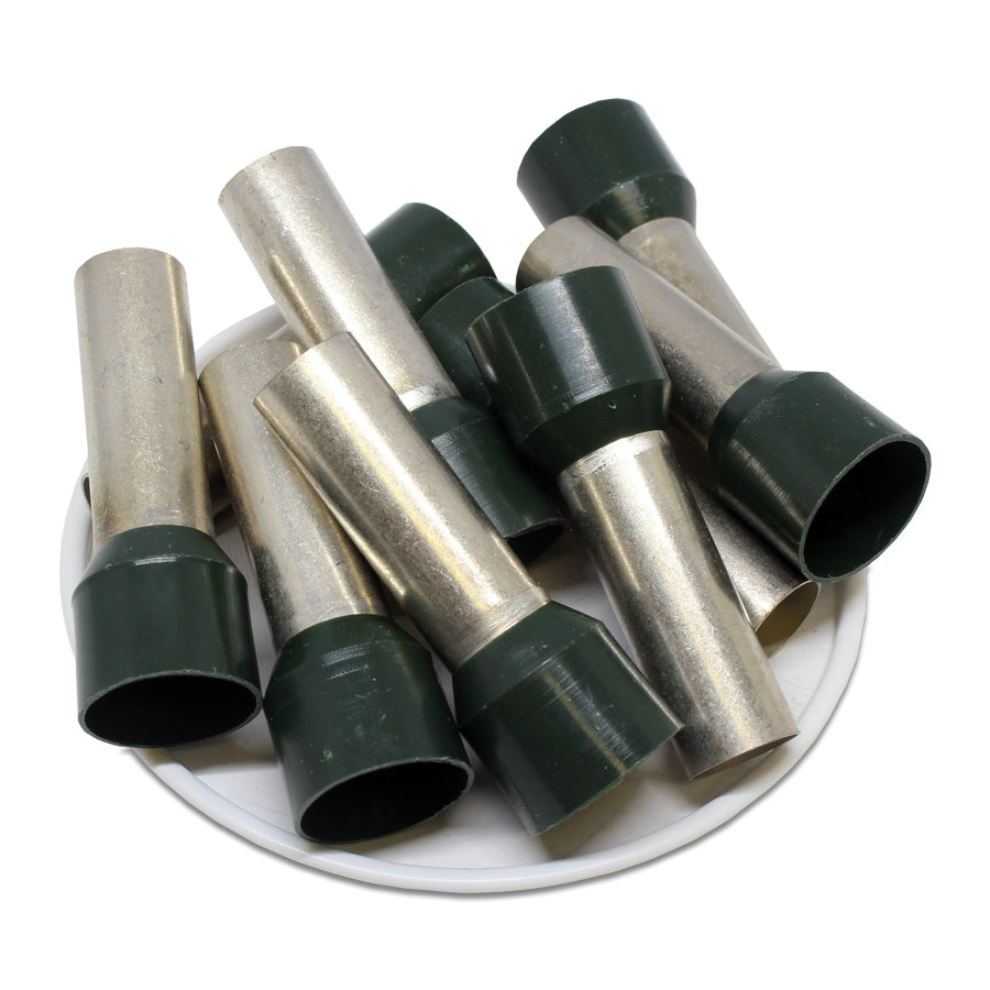 AW500025 - 1-1/0 AWG (25mm Pin) Insulated Ferrules - Olive Green