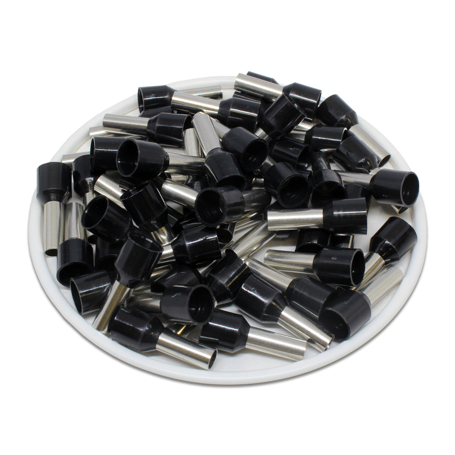 AW60010 - 10 AWG (10mm Pin) Insulated Ferrules - Black