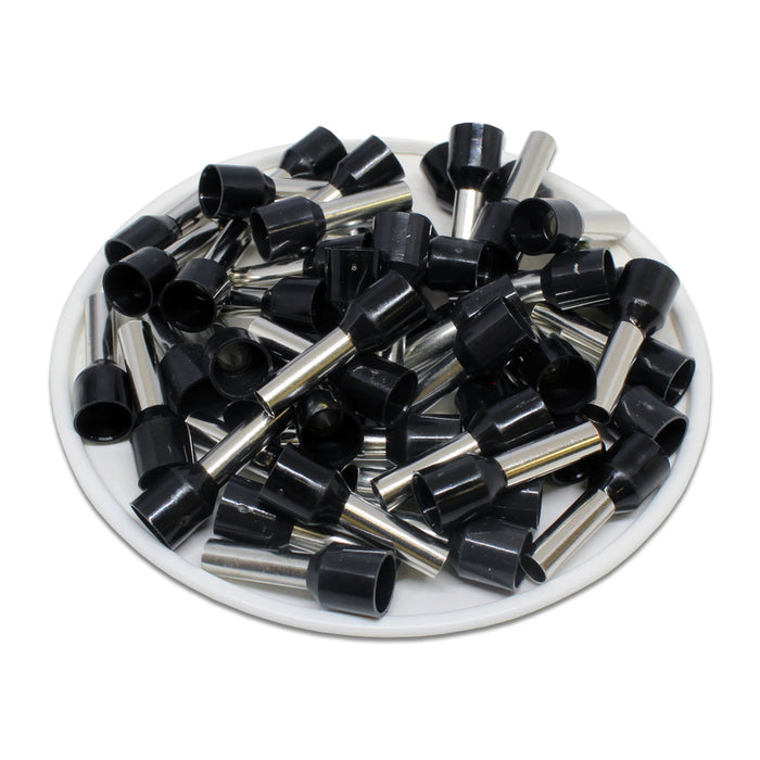 AW60012 - 10 AWG (12mm Pin) Insulated Ferrules - Black