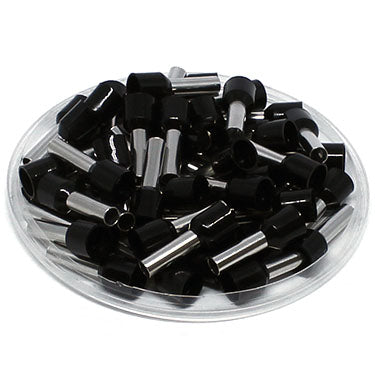 AW60009 - 10 AWG (9mm Pin) Insulated Ferrules - Black