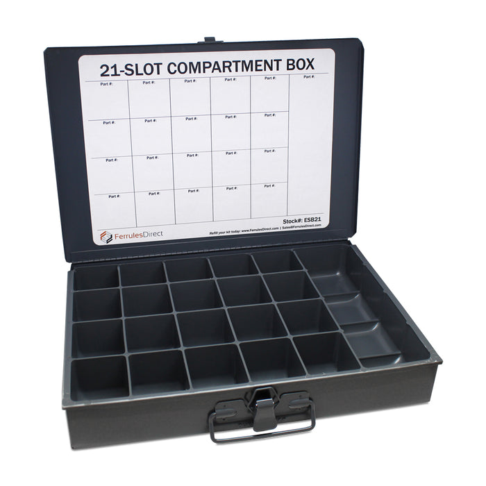 Esb21 Easy Scoop Box 21 Compartments Ferrules Direct