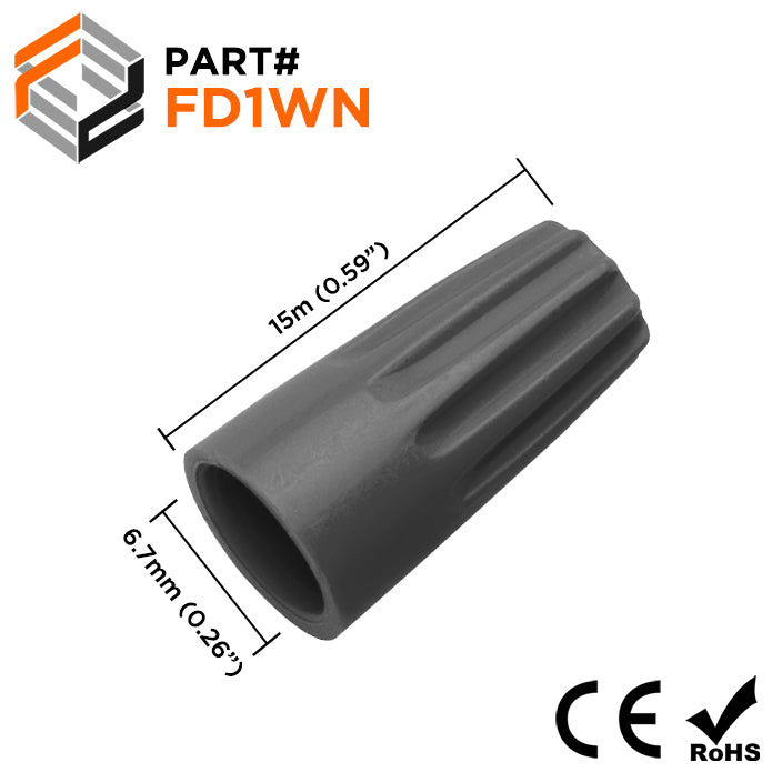 FD1WN - Wire Nut Connector - 22-16 AWG - Gray
