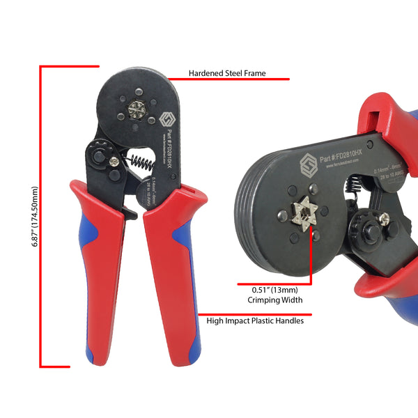FD2810HX - Crimping Tool - Hexagonal Profile - 28-10 AWG