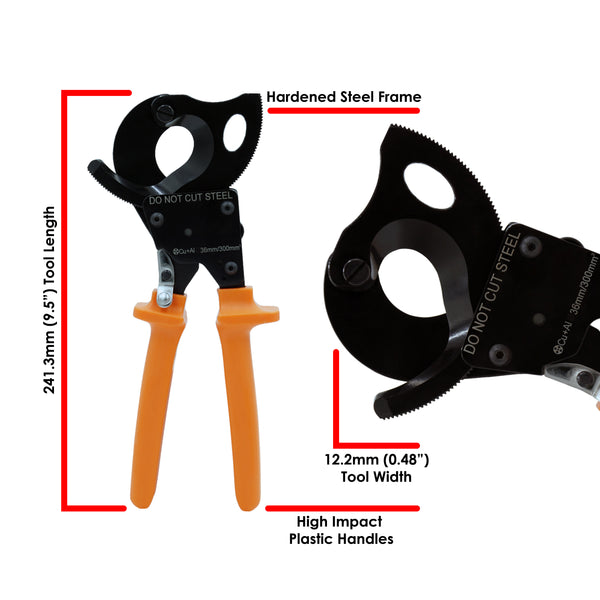 FD300CC - Heavy Duty Cable Cutter - Up to 300mm² (600MCM)