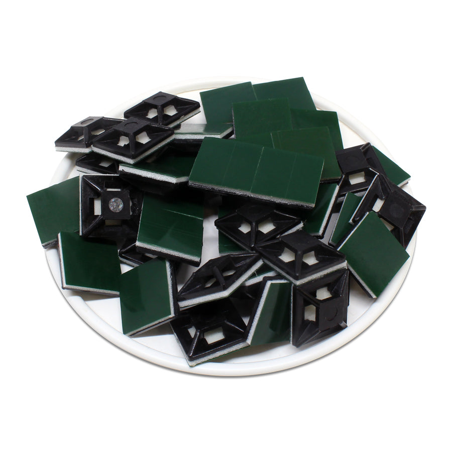 HC100S4B - Self-adhesive Tie Mounts - 12.5 x 12.5 x 3.2mm - Black