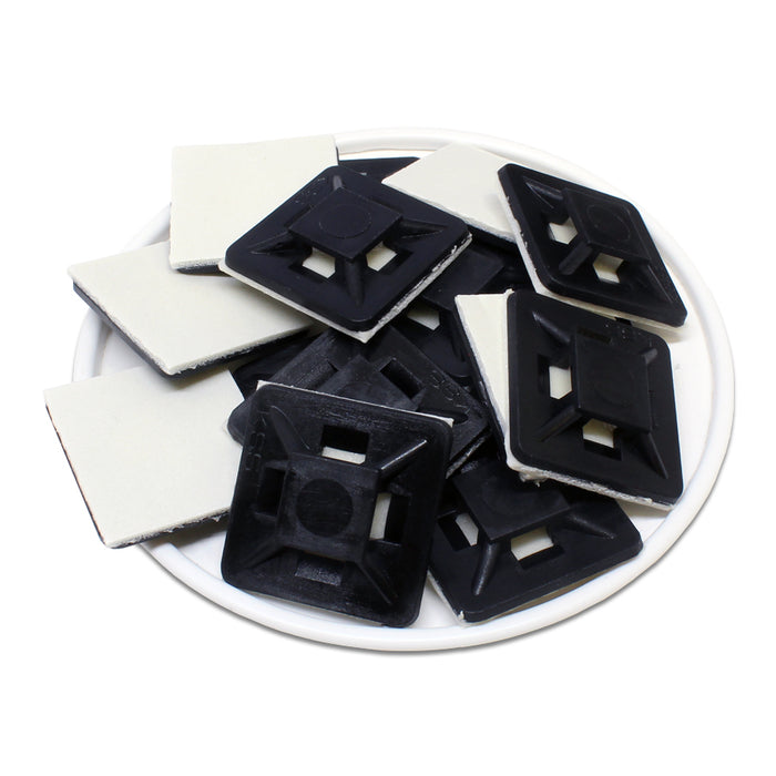HC101B - Self-adhesive Tie Mounts - 21.8 x 21.8 x 4.5mm - Black
