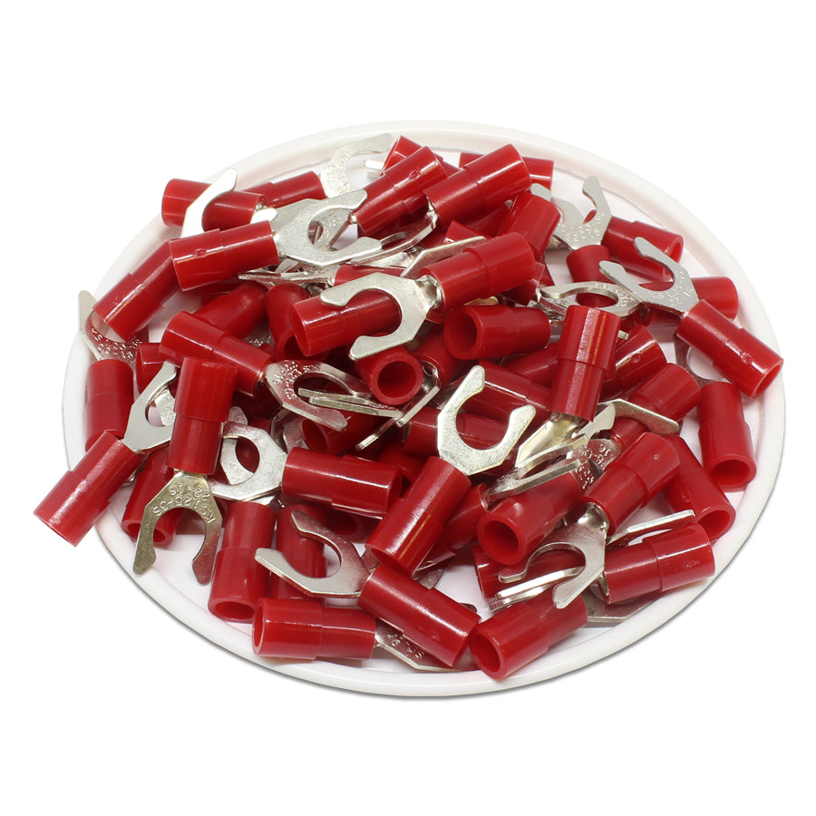 LSNYBS1-5 Nylon Insulated Locking Spade Terminals 22-16 AWG