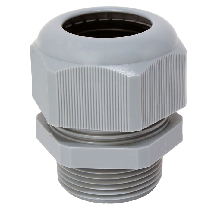 "N11432GY - Nylon Cable Gland - Straight - 1 1/4"" - Gray"