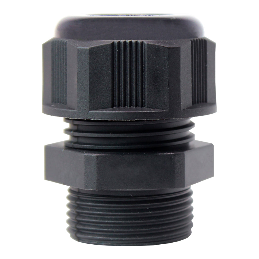 PG16 Nylon Cable Glands - 7-12mm - Black - PG1612BK