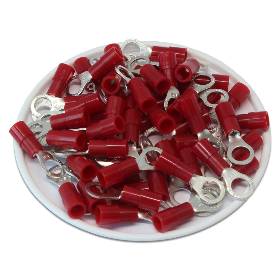 RNY1-5 Nylon Ring Terminals - Standard Crimp 22-16AWG - Stud #10