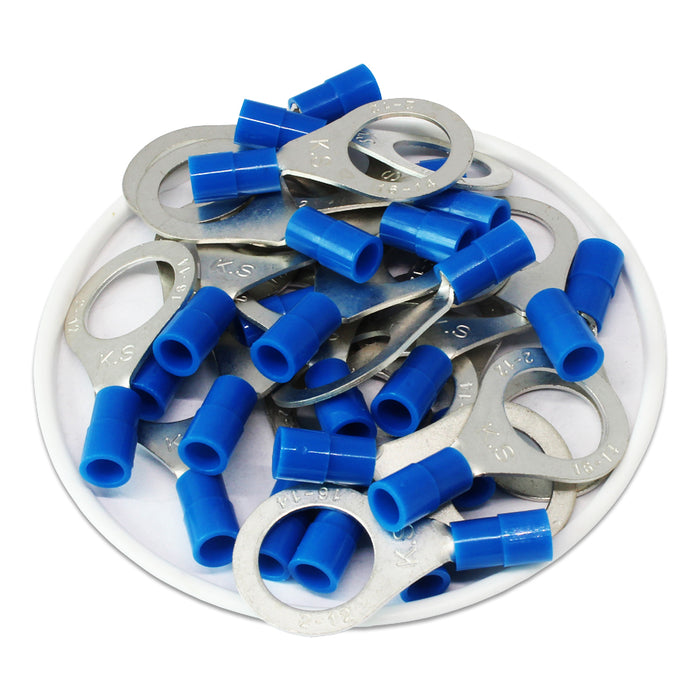 RNY2-12 Nylon Ring Terminals - Standard Crimp 16-14AWG - Stud 1/2""