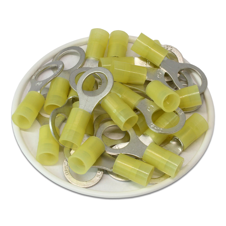 RNY5-10 Nylon Ring Terminals - Standard Crimp 12-10AWG - Stud 3/8""