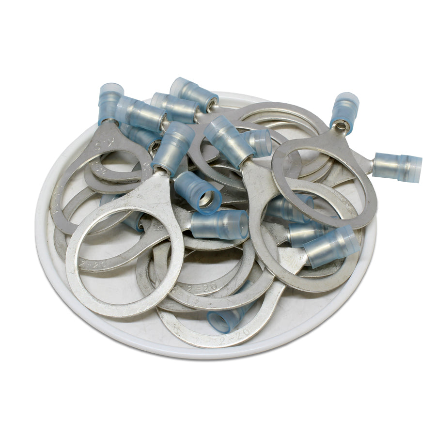 RNYD2-20 Nylon Ring Terminals - Double Crimp 16-14AWG