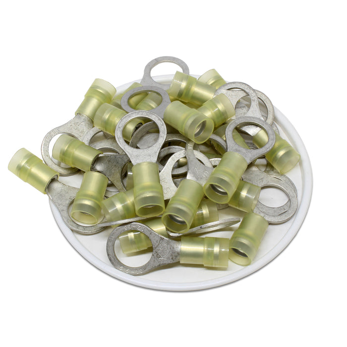 RNYD5-10 Nylon Ring Terminals - Double Crimp 12-10AWG