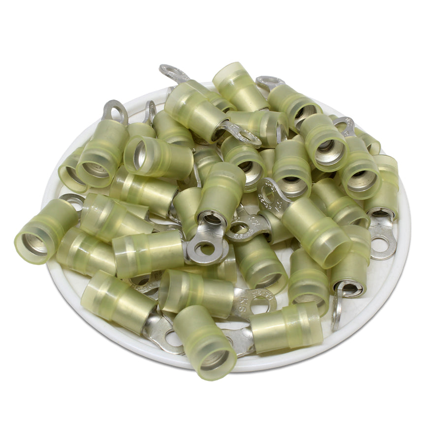 RNYD5-3.7 Nylon Ring Terminals - Double Crimp 12-10AWG