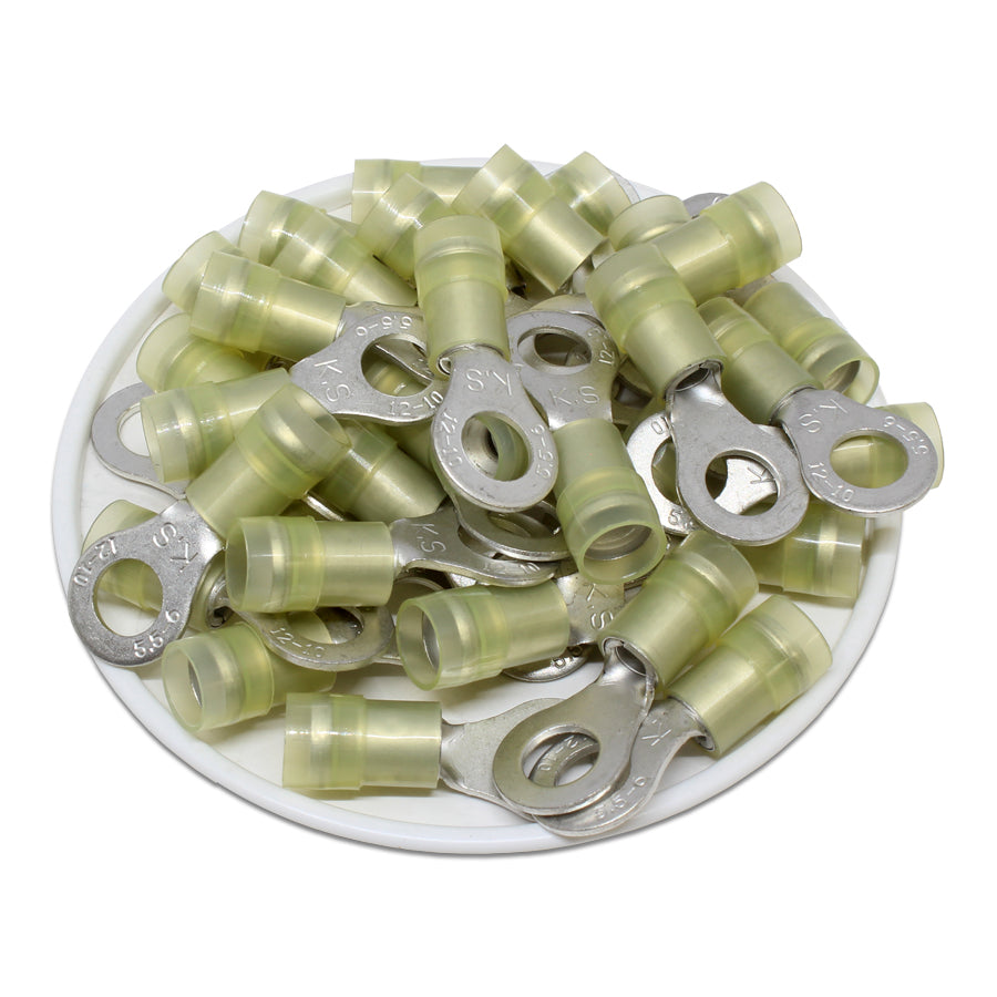 RNYD5-6 Nylon Ring Terminals - Double Crimp 12-10AWG