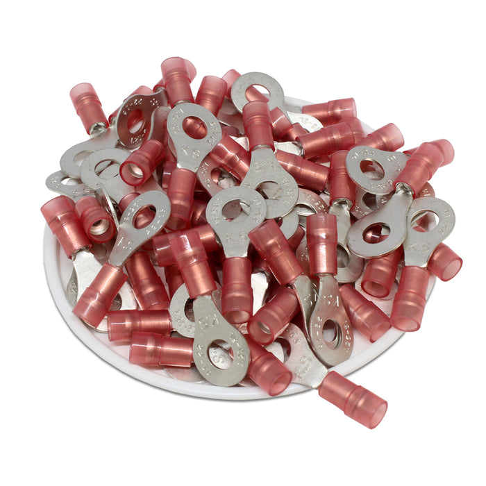 RNYDL1-5 Nylon Ring Terminals - Double Crimp 22-16AWG