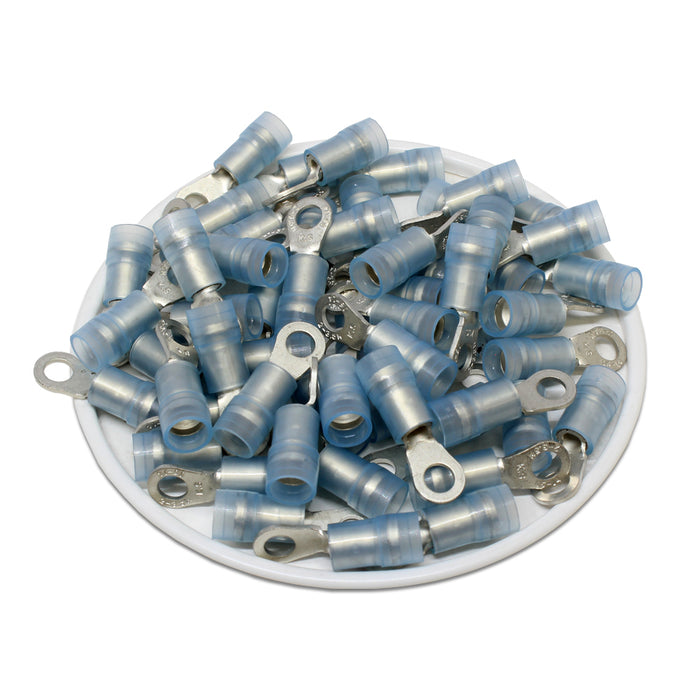 RNYDM2-3.7 Nylon Ring Terminals - Double Crimp 16-14AWG