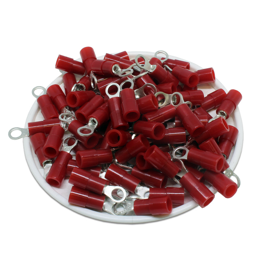 RNYS1-3.7 Nylon Ring Terminals - Standard Crimp 22-16AWG - Stud #6