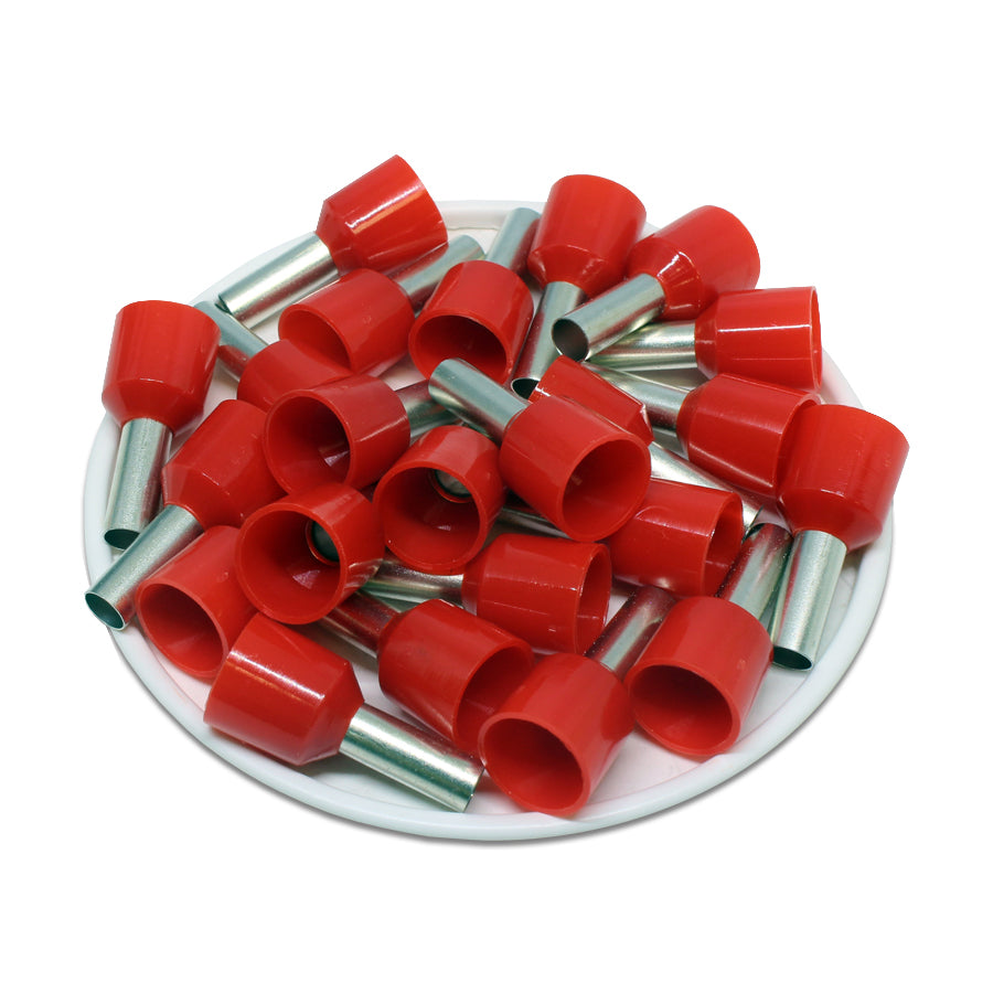 8 AWG (12mm Pin) Short Circuit Ferrules - Red