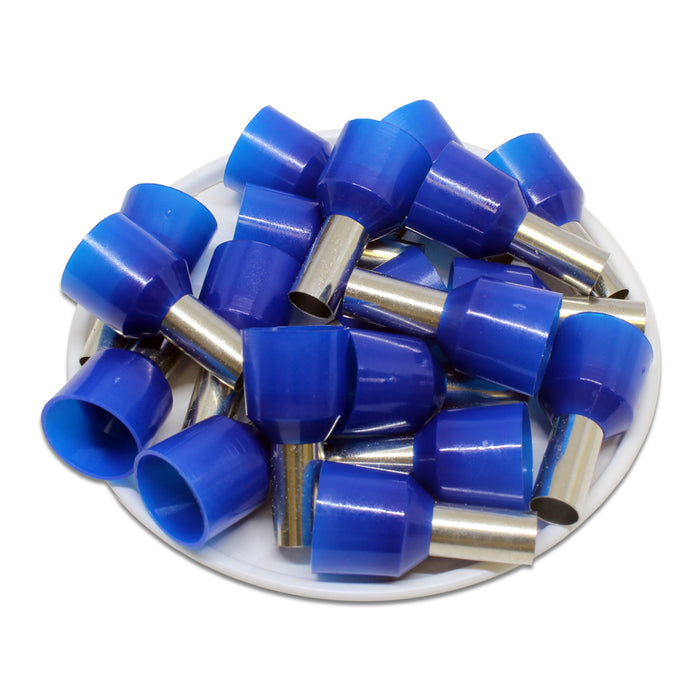 6 AWG (12mm Pin) Short Circuit Ferrules - Blue