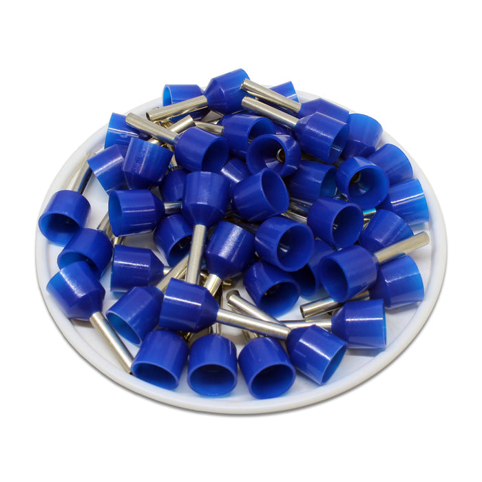 SC25012W - 14AWG (12mm Pin) Short Circuit Ferrules - Blue