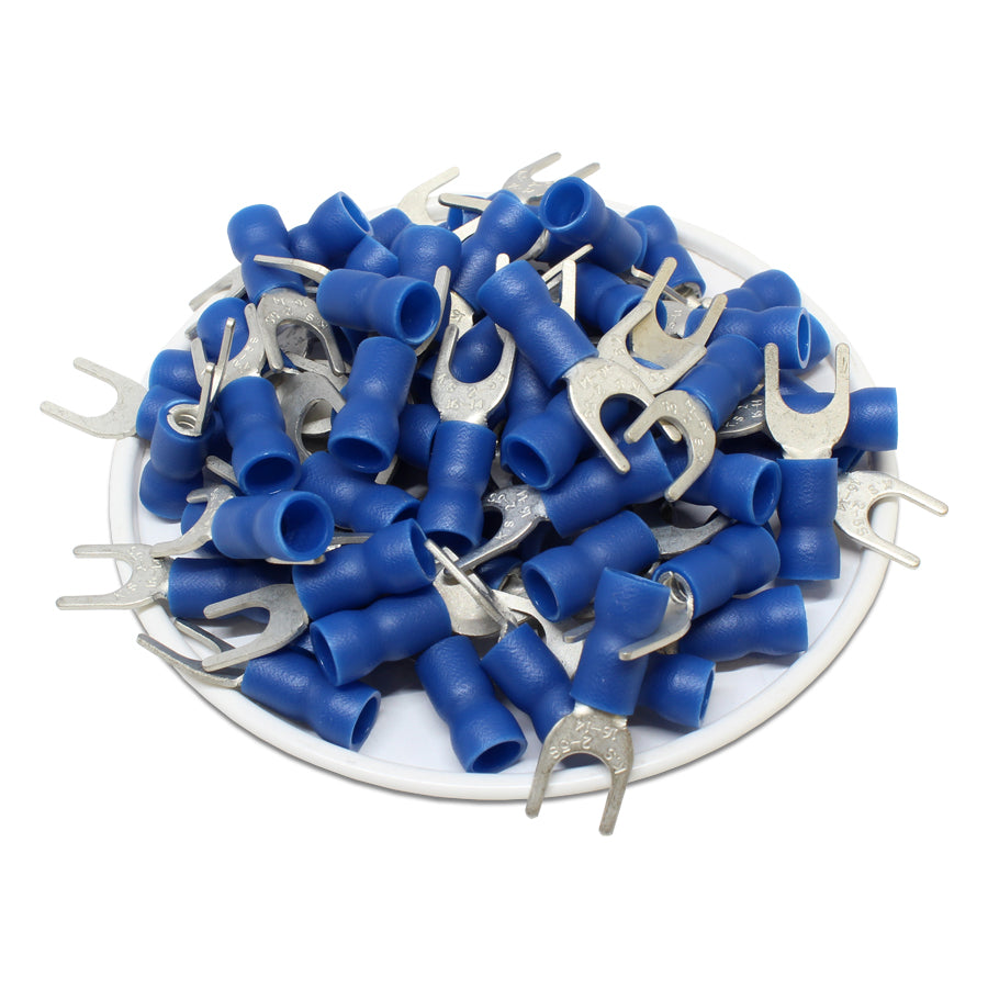 SVES2-5 - Vinyl Insulated Spade Terminal 16-14 AWG Blue - 100/pack