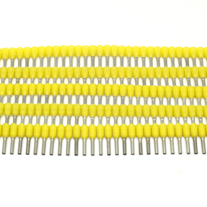 SW10008 - Strips of Ferrules - 18 AWG - Yellow - 500pcs