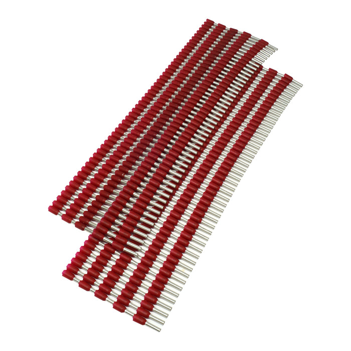 SW15008 - Strips of Ferrules - 16 AWG - Red - 500pcs