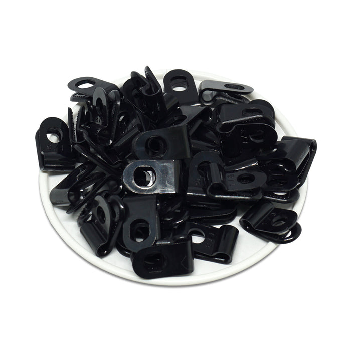 "UC05B - Strap Type Cable Clamps - 18.5 x 9.6mm (0.73 x 0.38"") - Black"