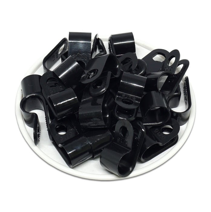"UC1_5B - Strap Type Cable Clamps - 22.6 x 10mm (0.89 x 0.39"") - Black"