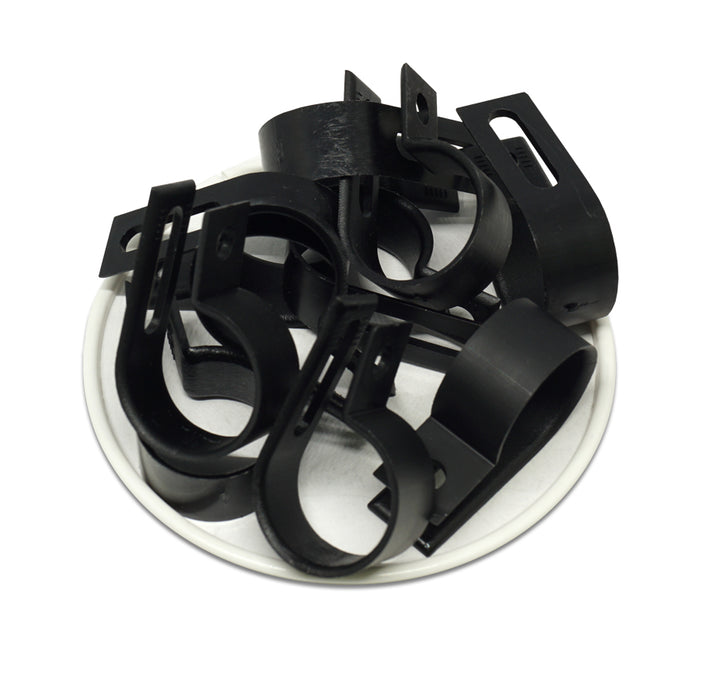 "UC5B - Strap Type Cable Clamps - 37.3 x 11.8mm (1.47 x 0.46"") - Black"