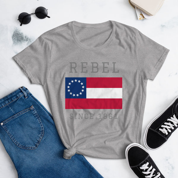 Rebel Since 1861 | Women's Fashion Fit T-shirt