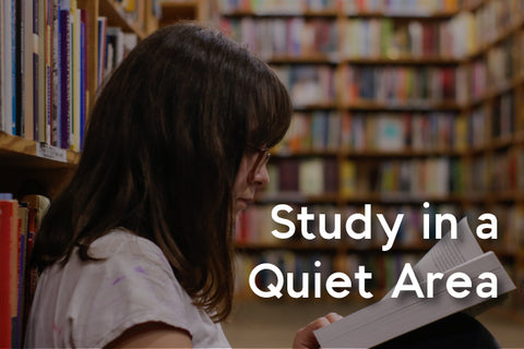 study in a quiet area