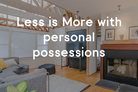 less is more with personal possessions