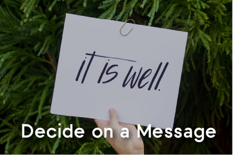 decide on a message