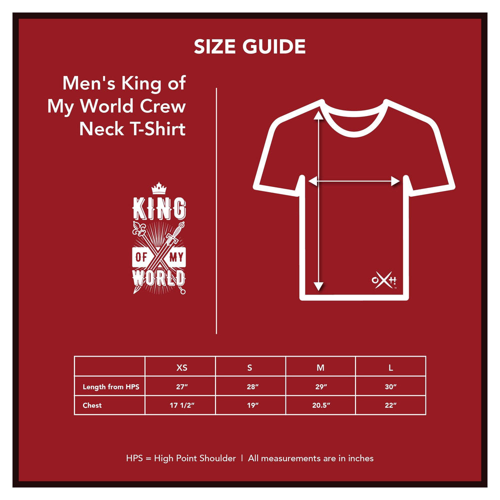 Men's King of My World Crew Neck T-Shirt