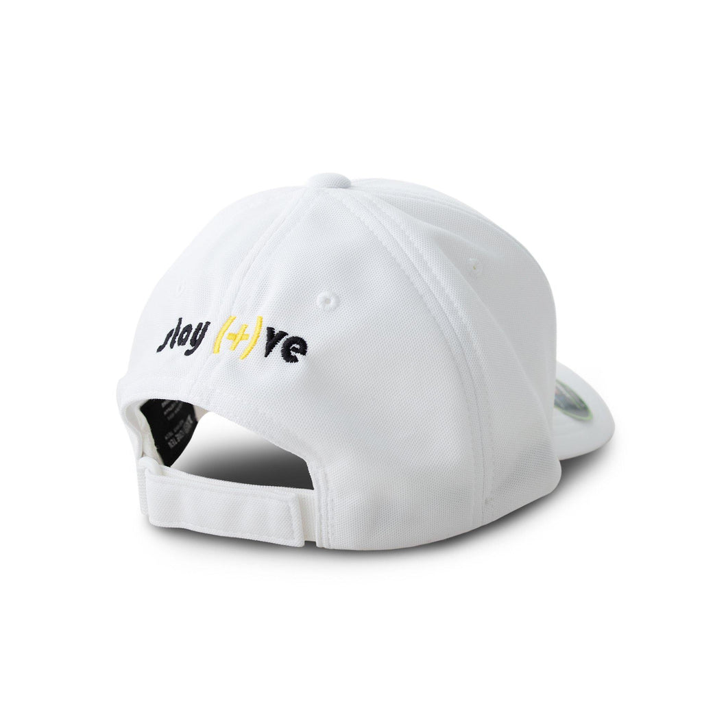 Stay Positive White Embroidered Motivational Cap | XOHDNAIR