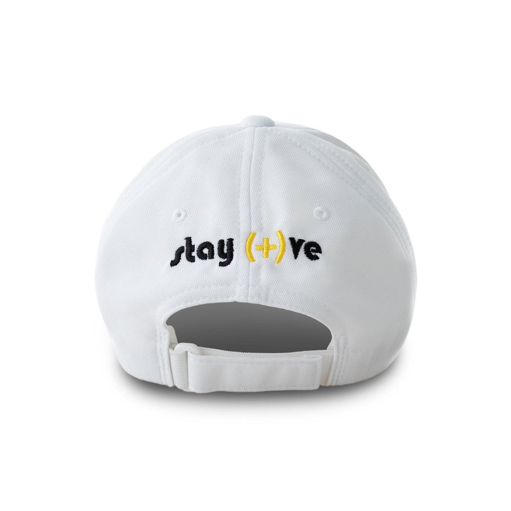 Stay Positive White Embroidered Cap | XOHDNAIR