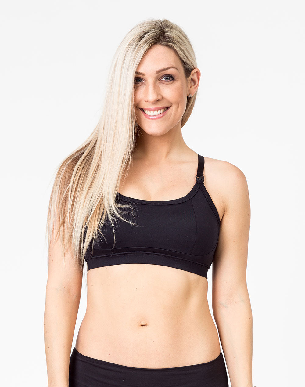 Racerback Nursing Bra - Everyday Bra Black
