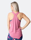 pink breastfeeding tank top with crossover back